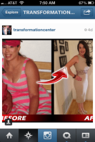 Adriana's transformation!!  She has made fitness a part of her life.